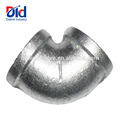 Black Pipe Fitting Cast Clamp Mech Galvanized Malleable Iron 90 Degree Elbow