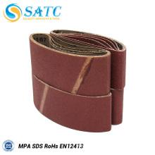 Alumina wood sanding belts for polishing