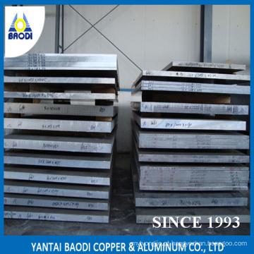 Placa 6061 da liga de alumínio, 6082, 6063, 7075 na fábrica da indústria