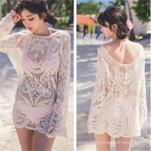 Camisa de vestir de estilo coreano Bikini Blusa Beach Wears (50167)