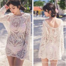 Camisa de vestido de biquíni de estilo coreano Blusa Beach Wears (50167)