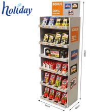 Kundenspezifischer Pappeinzelhandels-Boden LED-Ausstellungsstand