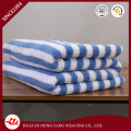 100%New Cotton Stripe Sky Blue and White Beach Towel
