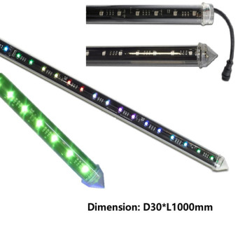 Tube de 30mm DC15V 360 Degree RGB DMX 3D