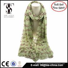 NEUES MATERIAL gemischtes Material mit beflockendem weichem Schal großem Schal
