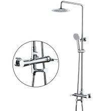 G129 Round sanitary ware chrome in wall shower single handle bathroom rain shower set