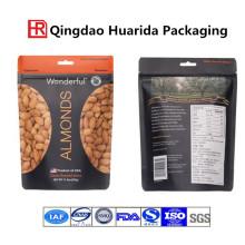 La impresión modificada para requisitos particulares se levanta el bolso de empaquetado de la comida de la nuez con la cremallera
