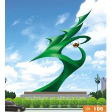 Современные большие искусства Аннотация Нержавеющая сталь Скульптура для украшения сада