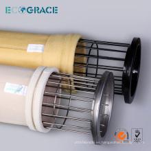 Personalizado P84 bolsa de filtro de filtro de polvo de tela jaula