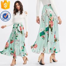 Self Belted Floral Skirt Fabricação Atacado Moda Feminina Vestuário (TA3086S)