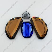 Pierres de bijoux lâches en verre de miroir irrégulier pour l'ornement de bijoux