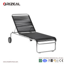 Outdoor Sun Lounger with Round PVC Weaving OZ-OR049