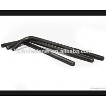 Aço carbono preto L gancho parafuso