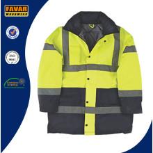 Hi-Vis Safety Padded Jacket for Motorway Policemen