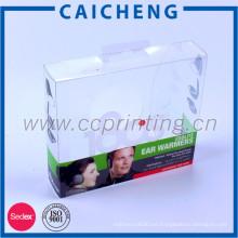 Caja de empaquetado plástica dura clara plegable barata pequeña