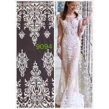Оптовая Белый французский кружева материалами Индия африканский хлопок вышивка кружева для свадебного платья