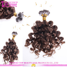 Real tangle free unprocessed 6a brazilian virgin loose wave micro loop hair extension