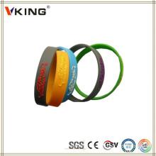 Braceletes de silicone baratos no atacado de silicone