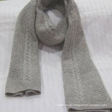 bufanda pura de la cachemira del invierno de la fuente de la fábrica tejida bufanda 100% de la cachemira