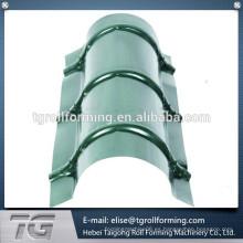 Proceso de pedido fácil Metal Roof Ridge Cap haciendo la máquina con muchos beneficios