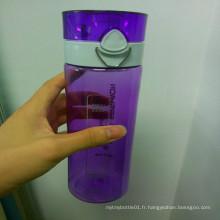 550/650 / 750ML bouteille d'ordinateur, bouteille d'eau en plastique, bouteille d'eau sans BPA avec verrou de sécurité