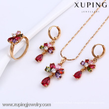 61524-Xuping Beautiful Wedding Jewelry Crystal Stone Bridal Set