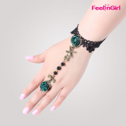 Wholesale Fashion Charm Bracelet With Green Flowers