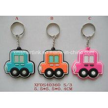Silikon-Karikatur-Auto-Schlüsselkette, Plastik Tropfen-Auto-Magnet, Gummi-Auto-Schlüsselkette