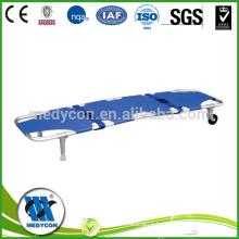 Aluminum alloy stretcher for hospital use foldaway emergency stretcher