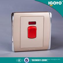 Interruptor da cozinha do interruptor de fogão do nanovolt do padrão britânico BS 1gang 45A
