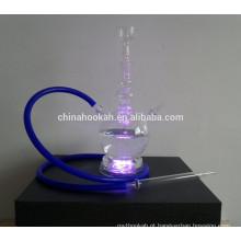 GH073-LT cachimbo de água de vidro transparente shisha / nargile / tubo de água / com luz led