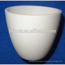 Alta qualidade Al2O3 ZrO2 Porcelana em forma de arco de cerâmica cadinho