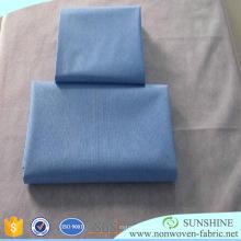 Drap de lit en tissu non-tissé pré-découpé de polypropylène de Disapoable