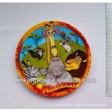 Placa lateral de regalo de cerámica redonda de la mejor calidad con diseño animal, placa de cena de cerámica decorativa