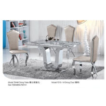 Chinese Rectangle Dining Table with Marble/Glass