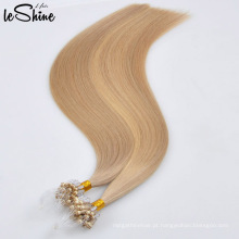 100% cabelo humano de Remy do Virgin Remy micro extensão de cabelo fina de trama por atacado