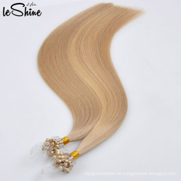 100% Jungfrau Remy Menschliche Natürliche Haar Micro Thin Einschlagfaden Haarverlängerung Großhandel