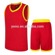 2017 melhor qualidade 100% poliéster sublimação camisa de basquete