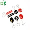 Porte-clés en caoutchouc de silicone personnalisé pour les porte-clés