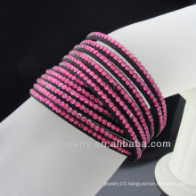 Fashion crystal rhinestone bracelet 2 wrap