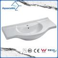 Semi-Recessed Bathroom Ceramic Cabinet Basin Hand Washing Sink (ACB4110)