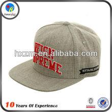 hip hop custom 5 panel flat brim leather snapback cap