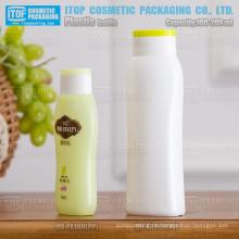 QB-FX200 (rechts auf dem Bild), zart und schön gewölbt mattiert 200ml weißen Shampoo Pe-Flasche