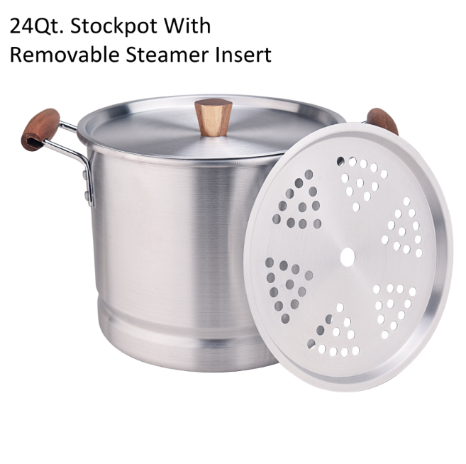 24qt Stockpot With Removable Steamer Insert