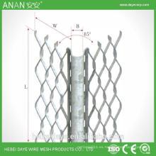 Plata material de construcción avanzado hormigón galvanizado esquinero malla de alambre de malla