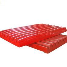 Manganês triturador de aço peças Placa de mandíbula Made in China