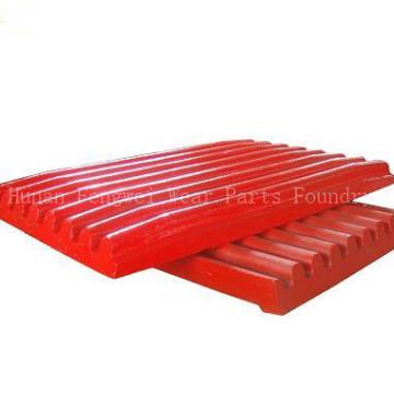 OEM alta Mn Steel Jaw Crusher peças de reposição Jaw Plate