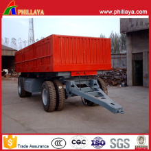 25 Tons Small Cargo Full Side Wall Open Drawbar Trailer