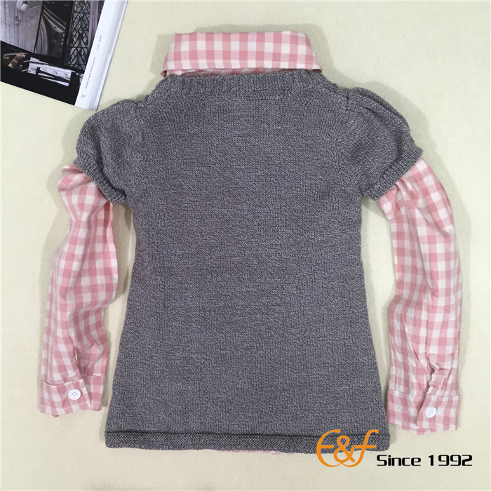Cut Sleeve Sweater Dress for Baby Girls