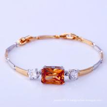 Mode élégant Two-Stone CZ Diamant Imitation Bijoux Bracelet pour les femmes -71886